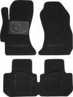 Коврики в салон для Subaru XV '11-16 текстильные, черные (Люкс)