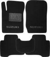 Коврики в салон для Suzuki Grand Vitara '06- текстильные, черные (Люкс)