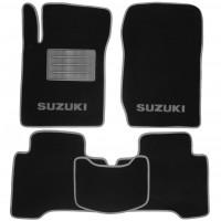 Коврики в салон для Suzuki Grand Vitara '06- текстильные, серые (Люкс)
