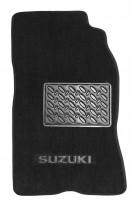 Фото 2 - Коврики в салон для Suzuki Jimny '98- текстильные, черные (Люкс)