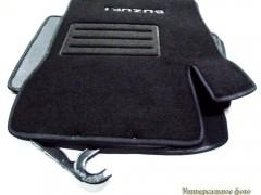 Коврики автомобильные Suzuki Kizashi '11- текстильные чёрные Люкс