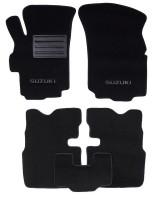 Коврики в салон для Suzuki Liana 4x4 '01-07 текстильные, черные (Люкс)