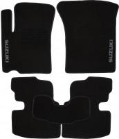 Коврики в салон для Suzuki Swift '05-09 текстильные, черные (Люкс)