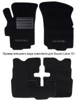 Коврики автомобильные Suzuki Swift '10-17, текстильные чёрные Люкс