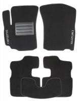 Коврики автомобильные Suzuki SX4 '06-14 текстильные чёрные Люкс