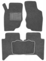 Коврики в салон для Toyota Hilux '05-15 текстильные, серые (Люкс)