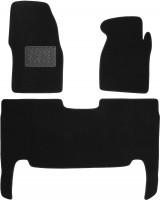 Коврики в салон для UAZ (УАЗ) 3163 Patriot '05-16 текстильные, черные (Люкс)