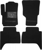 Коврики в салон для Volkswagen Amarok '10- текстильные, черные (Люкс)