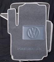 Коврики в салон для Volkswagen Amarok '10- текстильные, серые (Люкс)