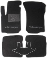 Коврики в салон для Volkswagen Bora '99-05 текстильные, серые (Люкс)