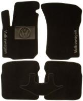 Коврики в салон для Volkswagen Bora '99-05 текстильные, черные (Люкс)