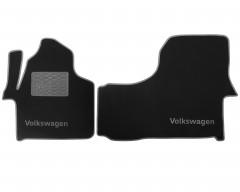 Коврики в салон для Volkswagen Crafter '06-16 текстильные, серые (Люкс)