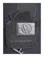 Коврики в салон для Volkswagen Golf Plus VI '09-14 текстильные, черные (Люкс)