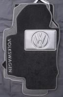 Коврики в салон для Volkswagen Golf VI '09-12 текстильные, черные (Люкс)