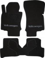 Коврики в салон для Volkswagen Jetta V '06-10 текстильные, черные (Люкс)