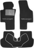Коврики в салон для Volkswagen Jetta VI '10- текстильные, серые (Люкс)