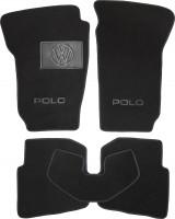 Коврики в салон для Volkswagen Polo '02-05 текстильные, черные (Люкс)