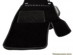 Коврики в салон для Volkswagen Sharan '01-10 текстильные, черные (Люкс)