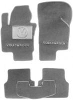 Коврики в салон для Volkswagen Tiguan '07-16 текстильные, серые (Люкс)