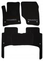 Коврики в салон для Volkswagen Touareg '02-09 текстильные, черные (Люкс) 8 клипс
