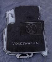 Коврики в салон для Volkswagen Touran '03-15 текстильные чёрные (Люкс) 1+2+3 ряд