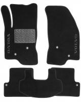 Коврики в салон для Volvo S60 '00-10 текстильные, черные (Люкс)