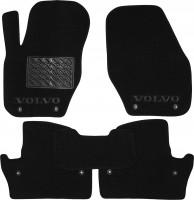 Коврики в салон для Volvo S60 / V60 '10- текстильные, черные (Люкс) 8 клипс