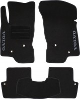 Коврики в салон для Volvo V70 '07-16 текстильные, черные (Люкс)