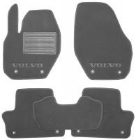 Коврики в салон для Volvo XC 60 '09-13 текстильные, серые (Люкс) 8 клипс