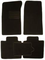 Коврики в салон для ЗАЗ Славута '99-11 текстильные, черные (Люкс)