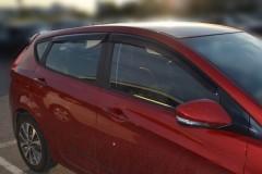 Дефлекторы окон для Hyundai Accent (Solaris) '11-17, хетчбек (Cobra)