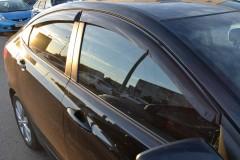 Дефлекторы окон для Hyundai Accent (Solaris) '11-17, седан (Cobra)