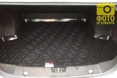 Коврик в багажник для Chevrolet Aveo '06-11 седан, резино/пластиковый (Lada Locker)