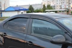 Дефлекторы окон для Chevrolet Aveo '11-, седан (Cobra)