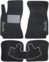 Коврики в салон для Audi A4 '95-00 текстильные, серые (Люкс)