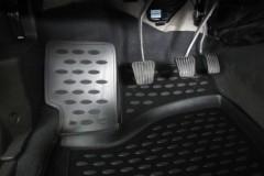 Фото 6 - Коврики в салон для Daewoo Nexia '08- полиуретановые, черные (Novline)