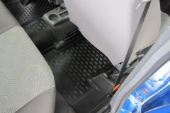 Фото 7 - Коврики в салон для Daewoo Nexia '08- полиуретановые, черные (Novline)