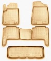 Коврики в салон для Infiniti QX80 '11- полиуретановые, бежевые (Novline / Element)