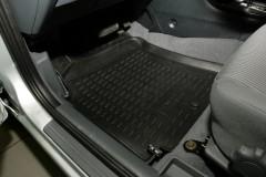 Коврики в салон для Nissan Almera Classic 06-13 полиуретановые, черные (Novline / Element) NLC.36.16.210