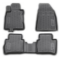 Коврики в салон для Nissan Tiida '05- полиуретановые, черные, 999RMC11BL (Novline / Element)