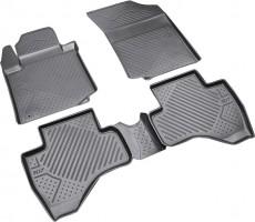 Коврики в салон для Peugeot 107 '05- полиуретановые, черные (Novline / Element) D000000012