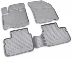 Коврики в салон для Suzuki SX4 '06-14 полиуретановые, серые (Novline / Element)