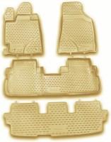 Коврики в салон для Toyota Highlander '10-13 полиуретановые, бежевые (Novline / Element)