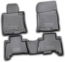 Коврики в салон для Toyota Land Cruiser Prado 150 '10-13 полиуретановые, черные (Novline / Element) 5-мест