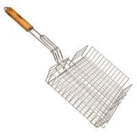 Решетка-корзина двойная для гриля с ручкой Stenson MH-0085