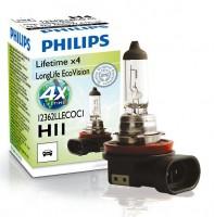 Автомобильная лампочка Philips LongLife EcoVision H11 12V 55W