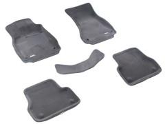 3d Mats Коврики в салон для Audi A6 '11-14 текстильные 3D серые (3D Mats)