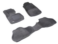 Коврики в салон для BMW X3 F25 '10-17 текстильные 3D серые (3D Mats)