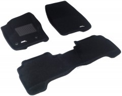 3d Mats Коврики в салон для Ford Kuga '13- текстильные 3D чёрные (3D Mats)