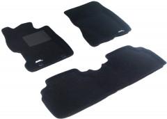3d Mats Коврики в салон для Honda Civic 4D '06-12 текстильные 3D чёрные (3D Mats)